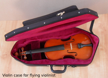 violin case for flying violinist